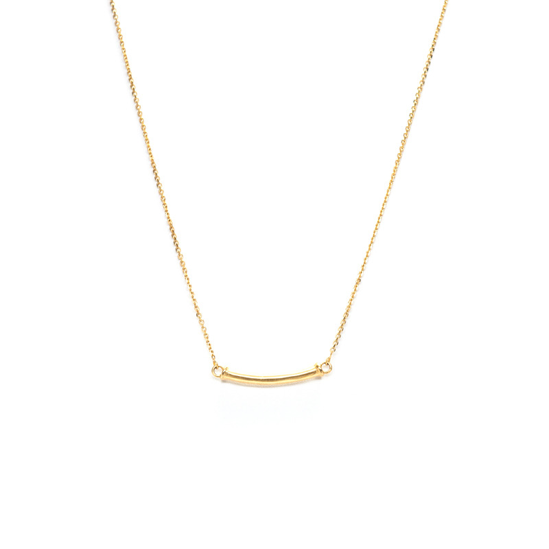 Lucas Jack Bamboo Bar Necklace in Gold