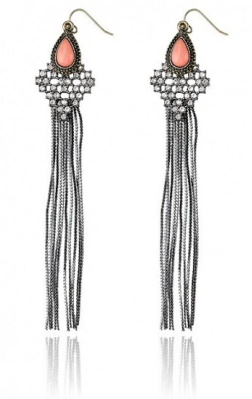 Samantha Wills Bohemian Bardot Shoulder Duster Earrings in Sorbet