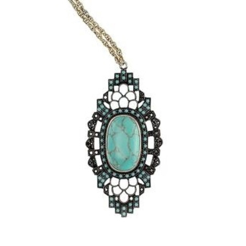 Samantha Wills Cameo Lover Necklace in Turquoise
