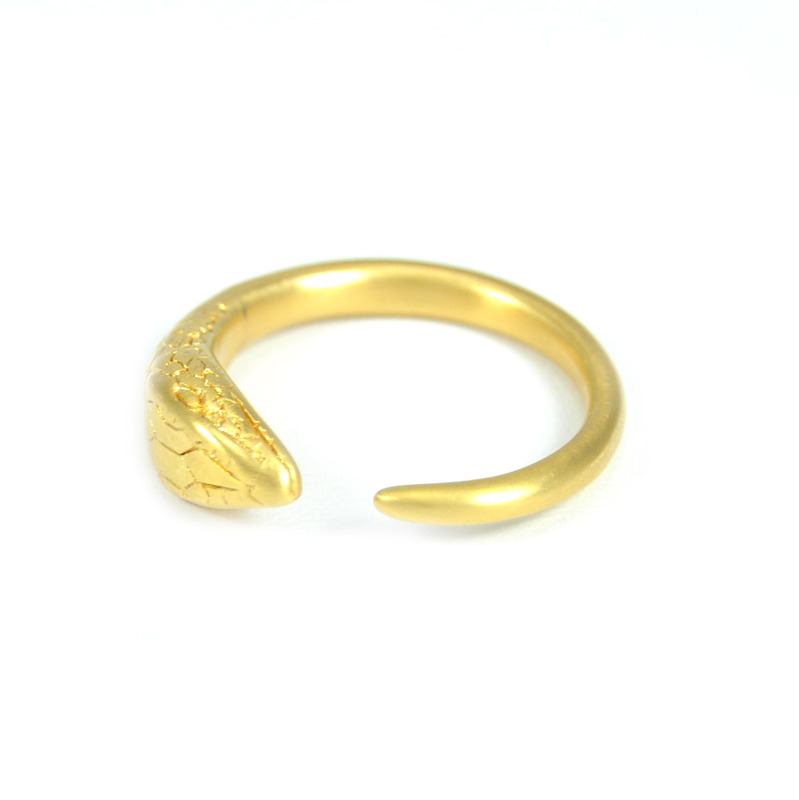 Lucas Jack Simple Snake Ring in Gold