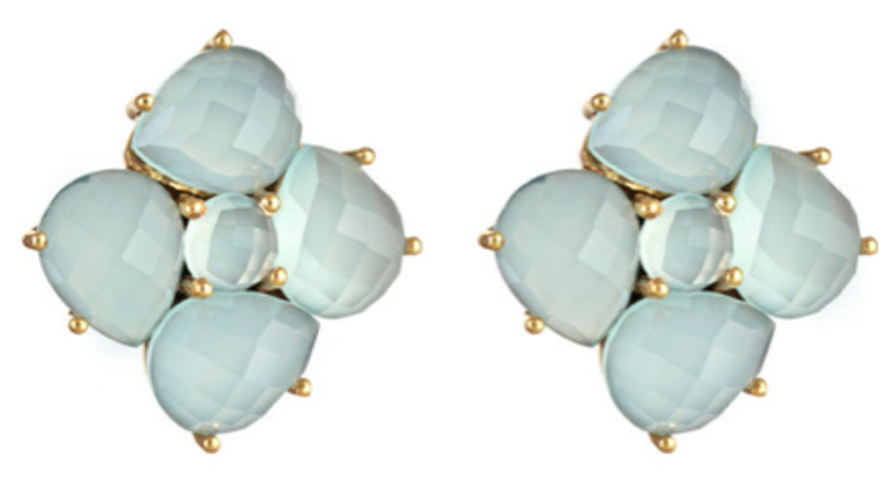 Margaret Elizabeth Faceted Cluster Posts in blue