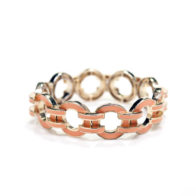 Urban Gem Zero Equals Stretch Bracelet in Peach