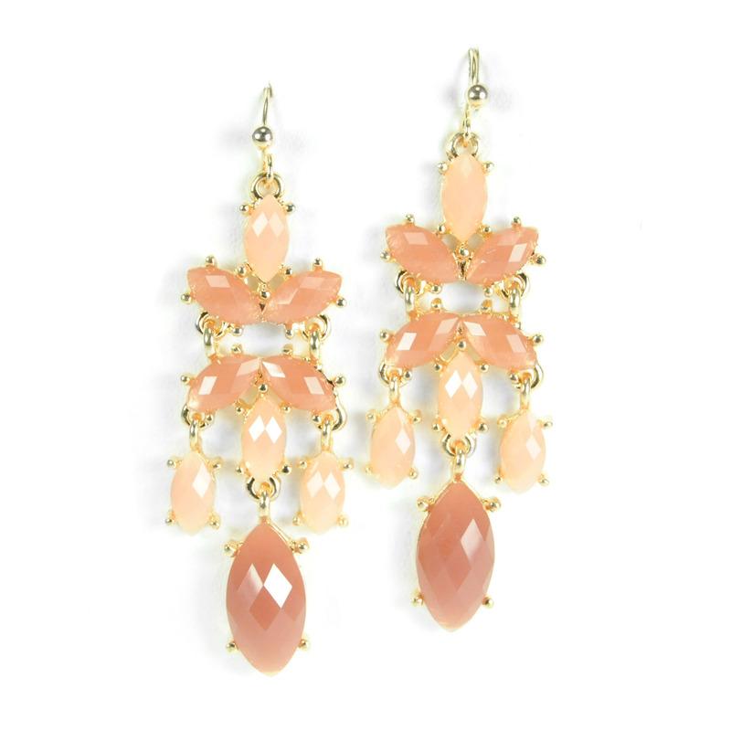 Urban Gem Rose Chandelier Earrings