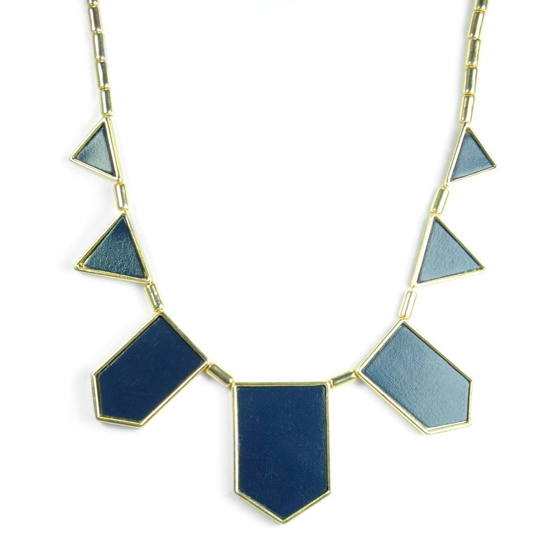 Urban Gem The Point Necklace in Blue