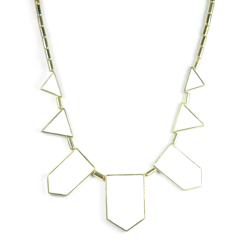 Urban Gem The Point Necklace in White