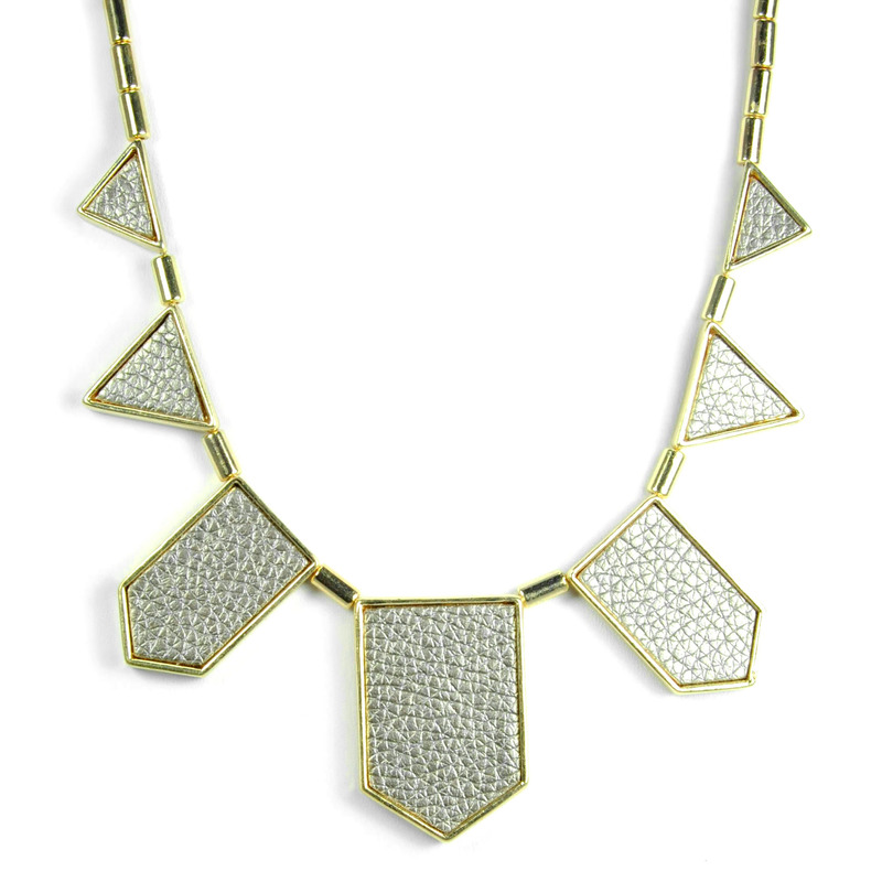 Urban Gem The Point Necklace in Metallic
