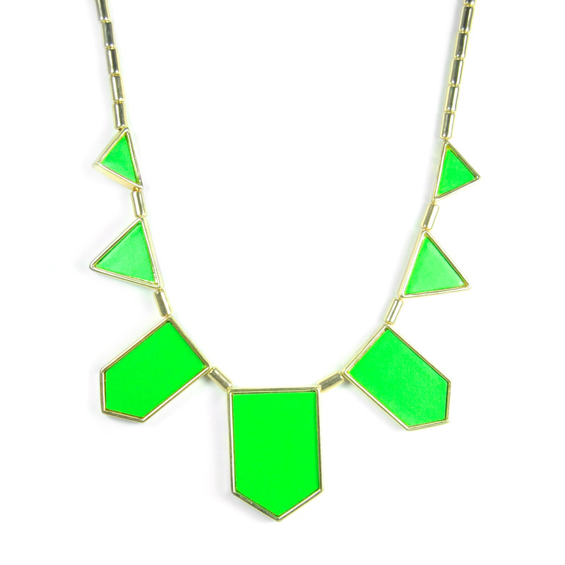 Urban Gem The Point Necklace in Green