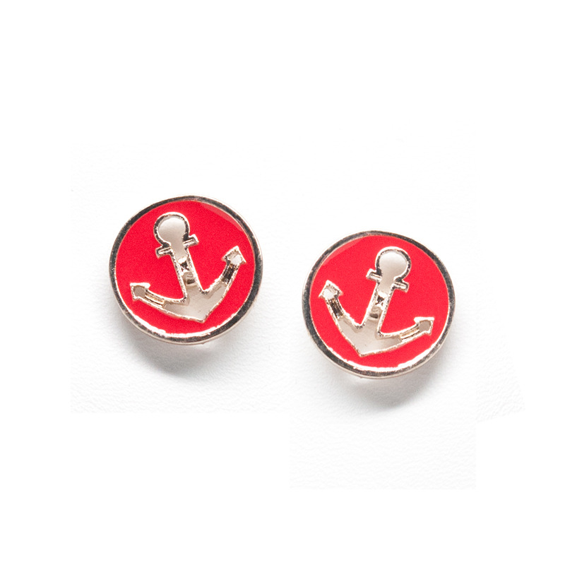 Urban Gem Anchors Away Studs in Red
