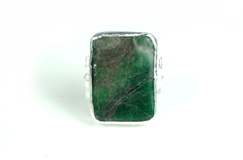 Robyn Rhodes Bailey Ring in Green and Silver