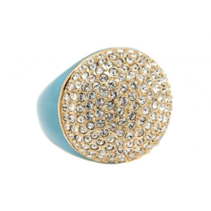 CC Skye Enamel Pave Dome Ring in Turquoise