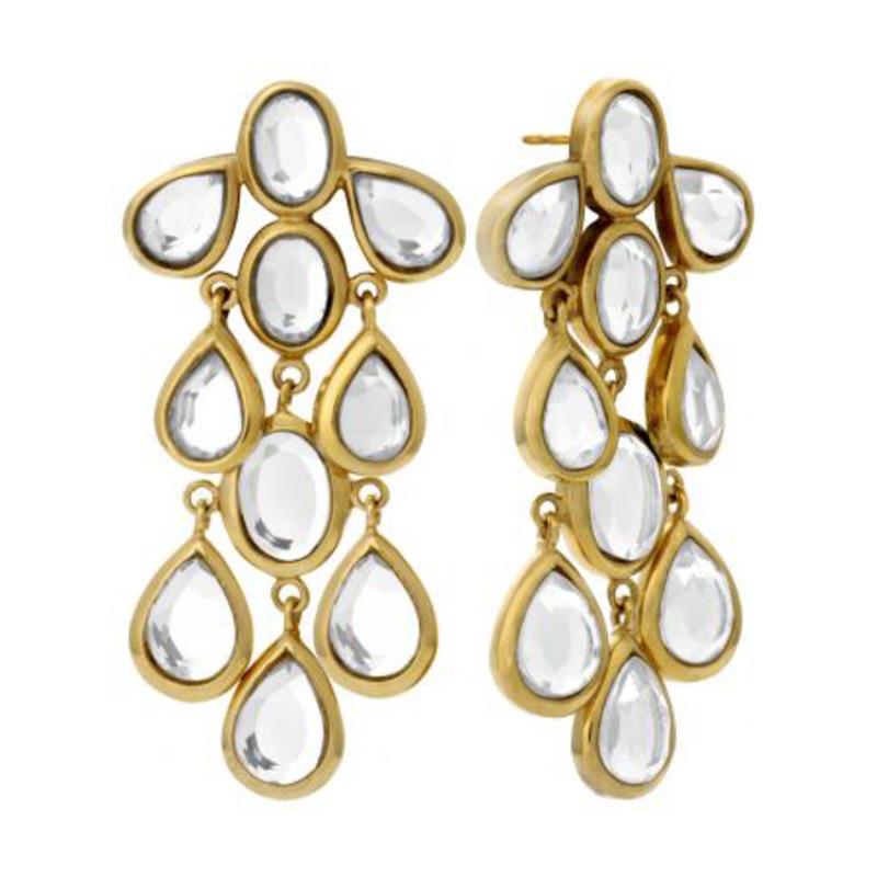 Isharya Mirror Gems Small Splash Earring