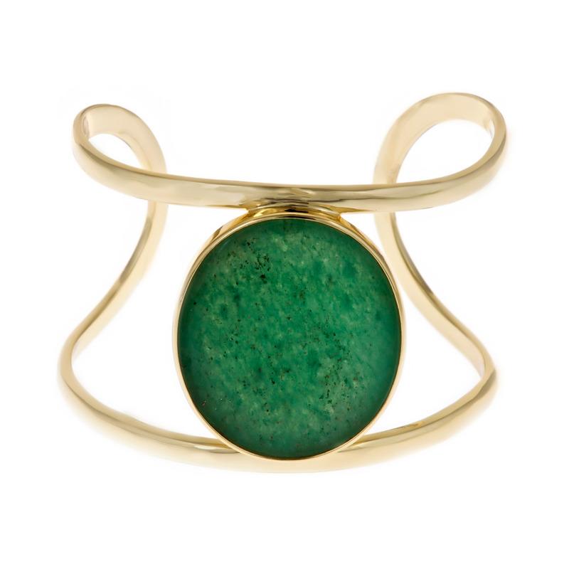 Isharya Green Aventurine Wire Cuff