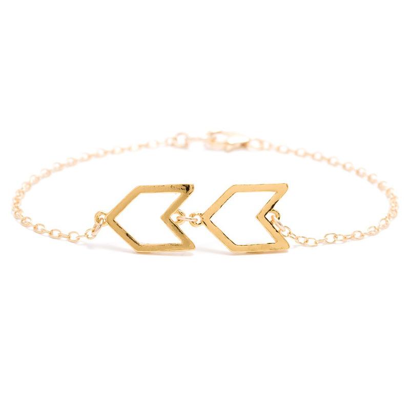 Gorjana Chevron Charm Bracelet