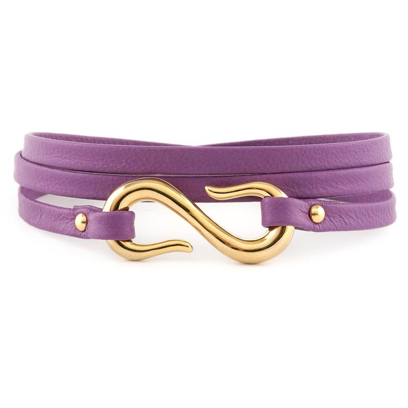 Gorjana Sadie Triple Wrap Bracelet in Violet
