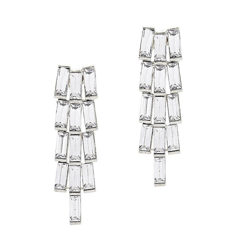 Urban Gem Shooting Star Earrings in Silver