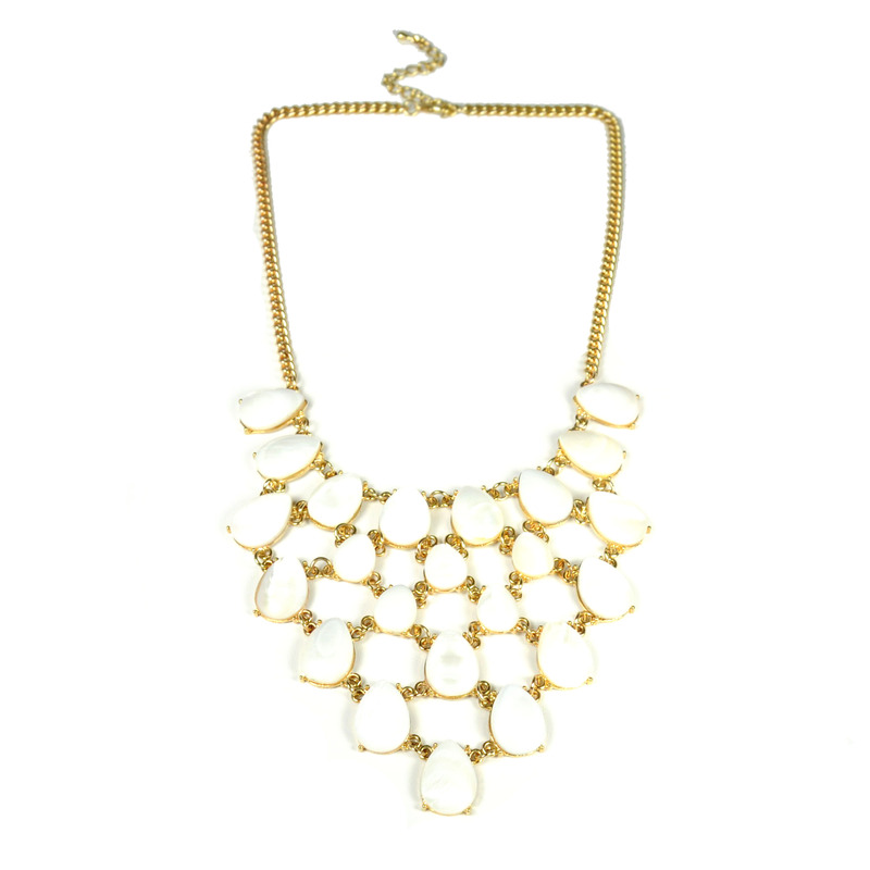 Urban Gem Pearlescent Bib Necklace