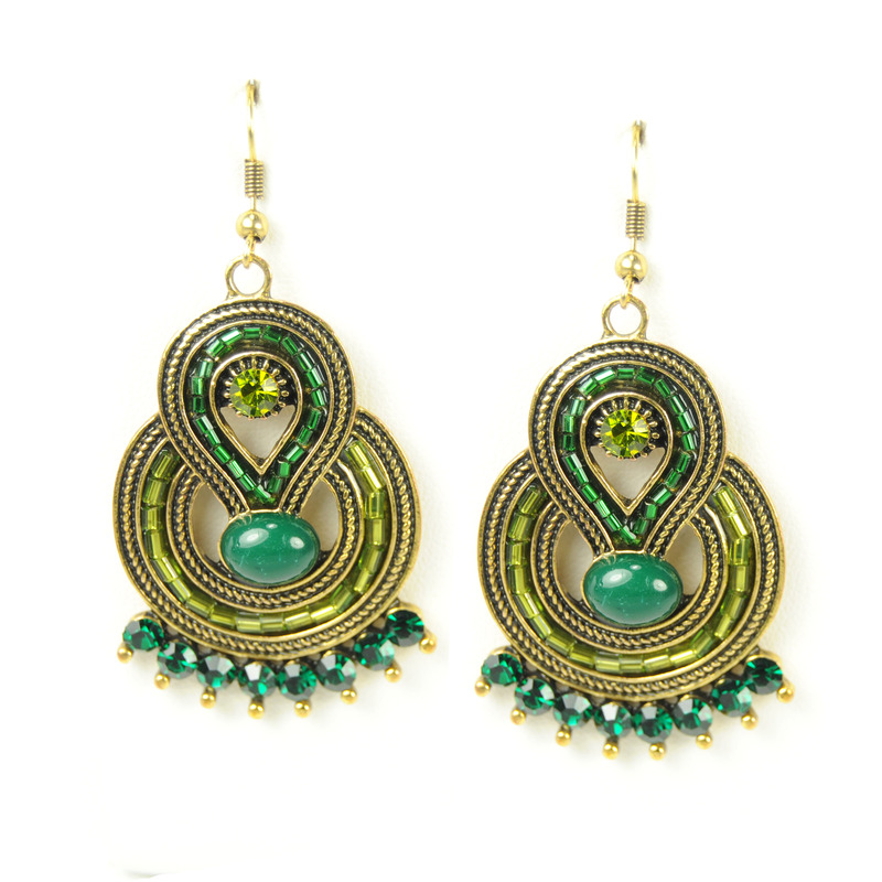 Urban Gem Ancient Heiress Earrings in Emerald