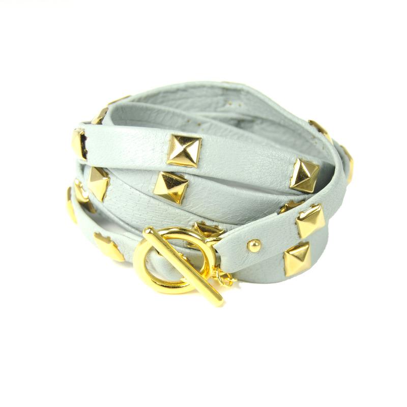 Gorjana Graham Large Pyramid Stud Five Wrap Bracelet