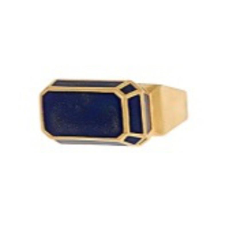 Isharya Pyramid Luxe Ring in Blue