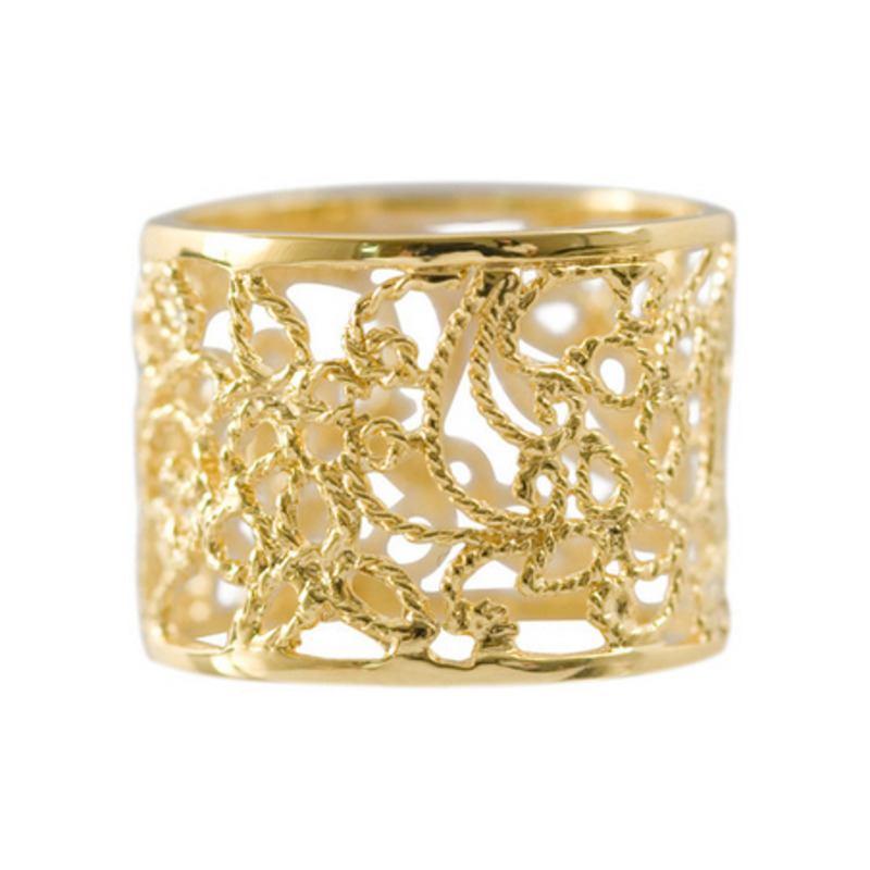 Isharya Indian Band Filigree Ring