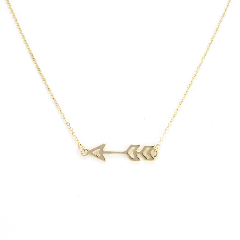 Urban Gem Sense of Direction Necklace in Gold