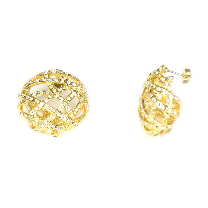 Urban Gem Jackie O. Earrings in Gold