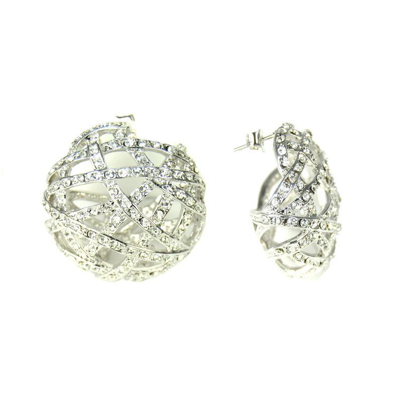 Urban Gem Jackie O. Earrings in Silver