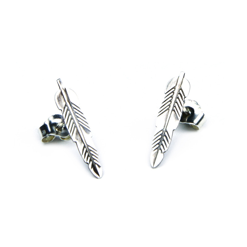 Bing Bang Kachina Feather Studs in Sterling Silver