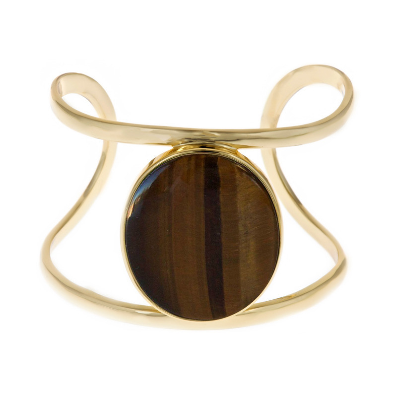 Isharya Tigers Eye Wire Cuff