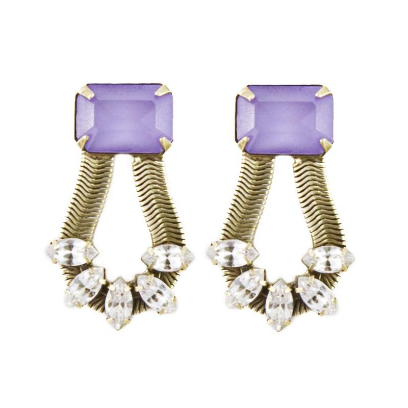 Loren Hope Clara Earrings in Lilac