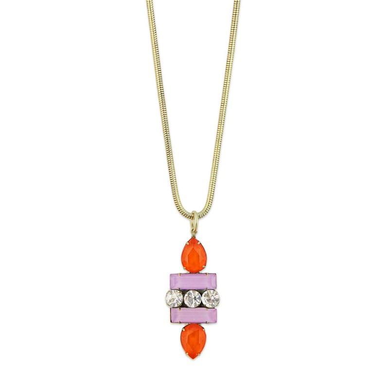 Loren Hope Petra Pendant in Orchid/Tangerine