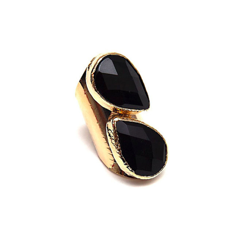Robyn Rhodes Gorgia Ring in Onyx and 14kt Gold