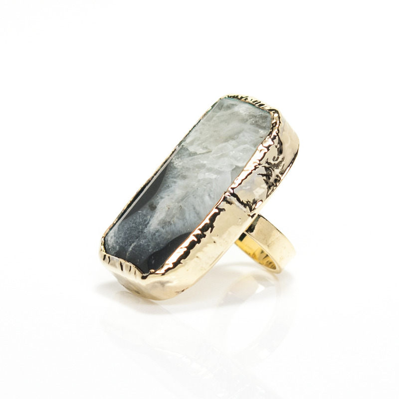 Robyn Rhodes Midnight Ring in Black and Gold