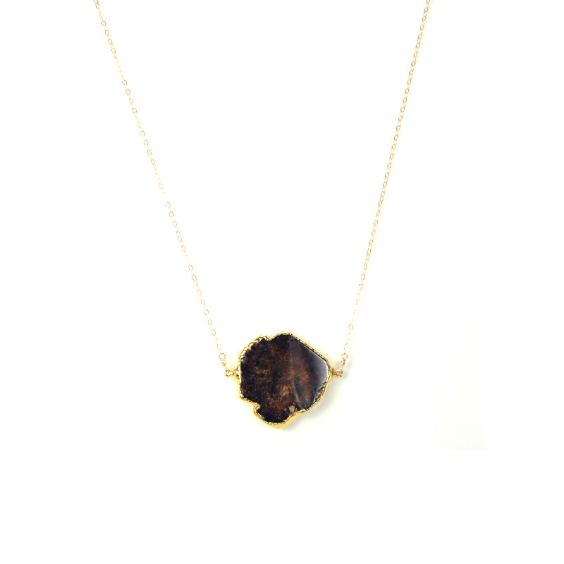 Robyn Rhodes Dara Necklace in Gold and Garnate