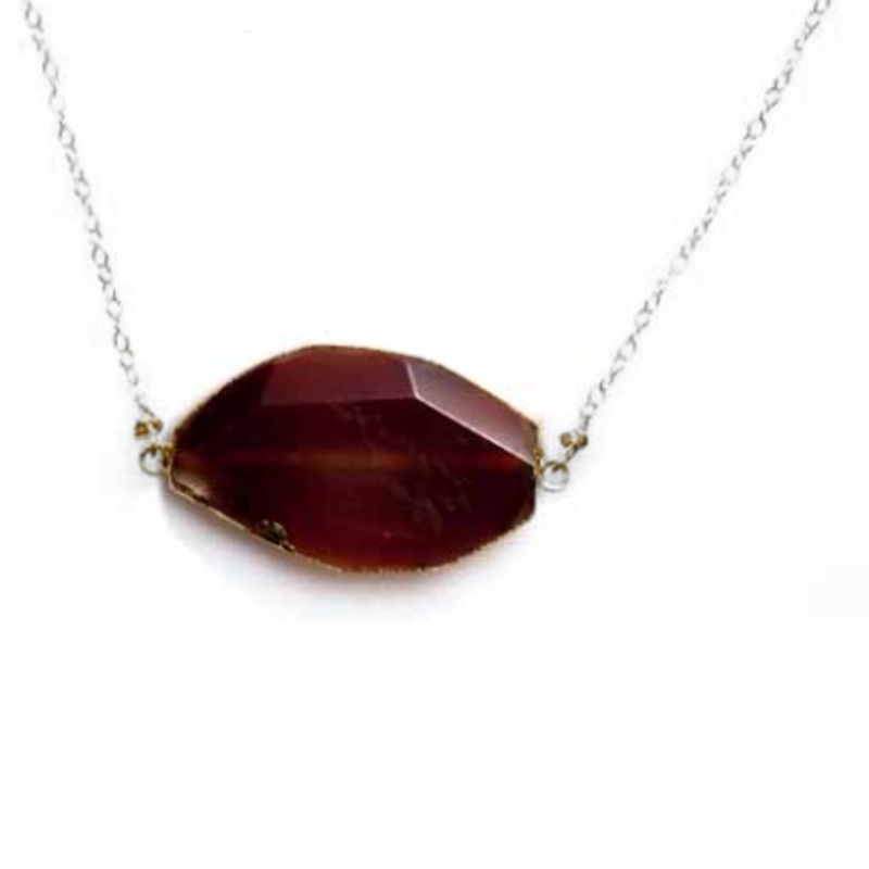 Robyn Rhodes Clayton Necklace in Carnelian and Silver
