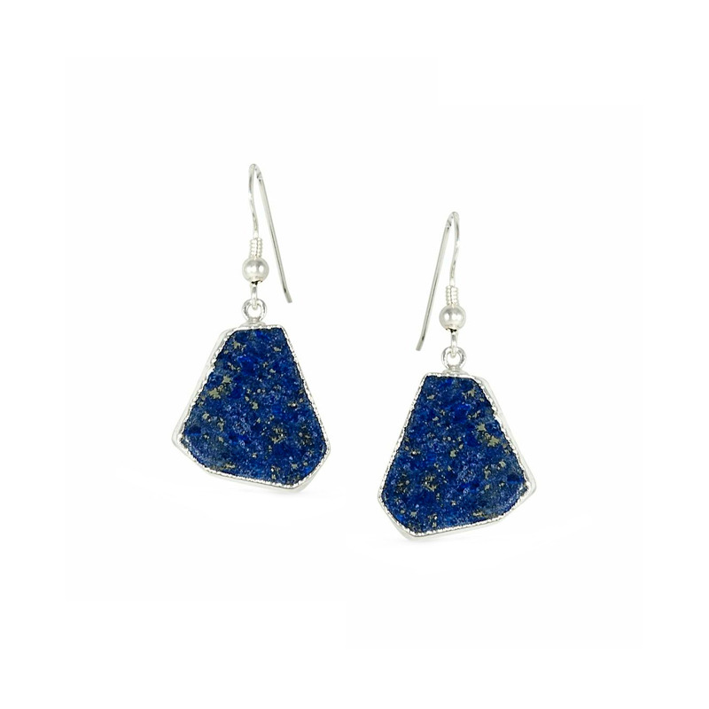 Robyn Rhodes Shoshanna Earrings in Lapis and Silver