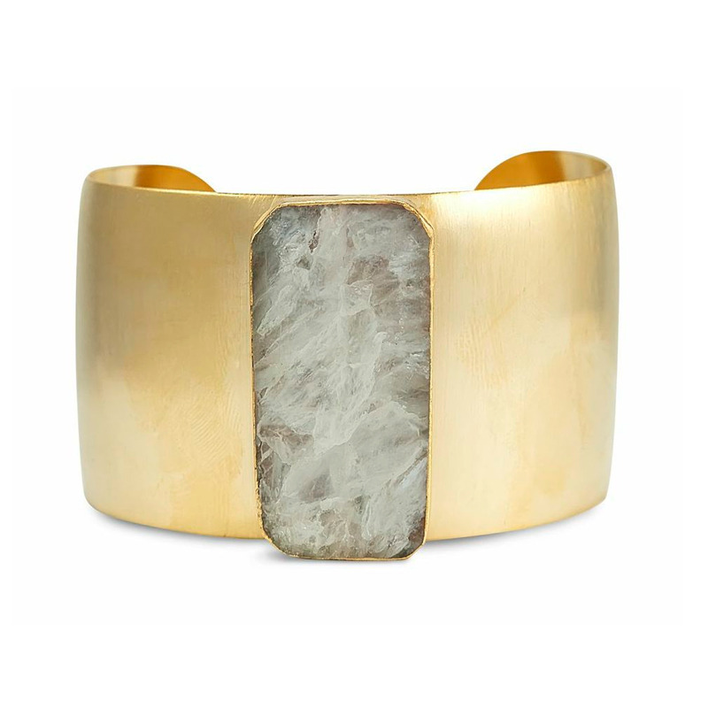 Robyn Rhodes Elan Cuff in White Stripe and Gold