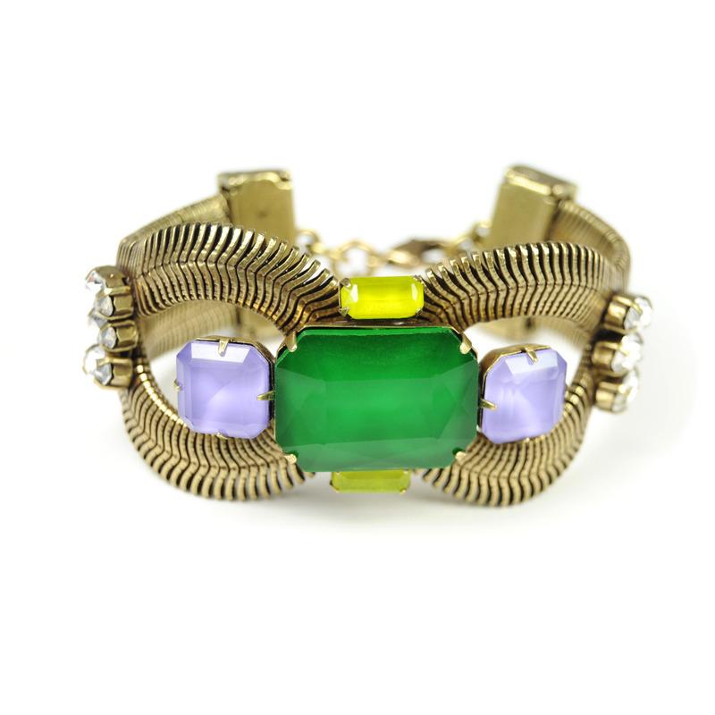Loren Hope Maya Bracelet in Clover