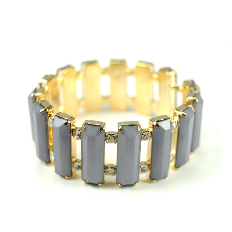 Urban Gem Baguette Bracelet in Grey