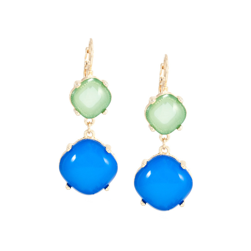 Urban Gem French Clip Drop Earrings in Ocean