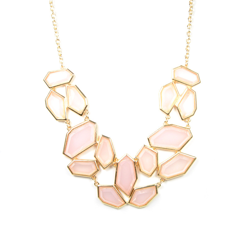 Urban Gem Shattered Jewels Necklace in Floral