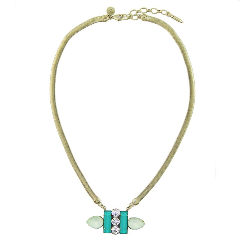 Loren Hope Petra Petite Necklace in Teal/Mint
