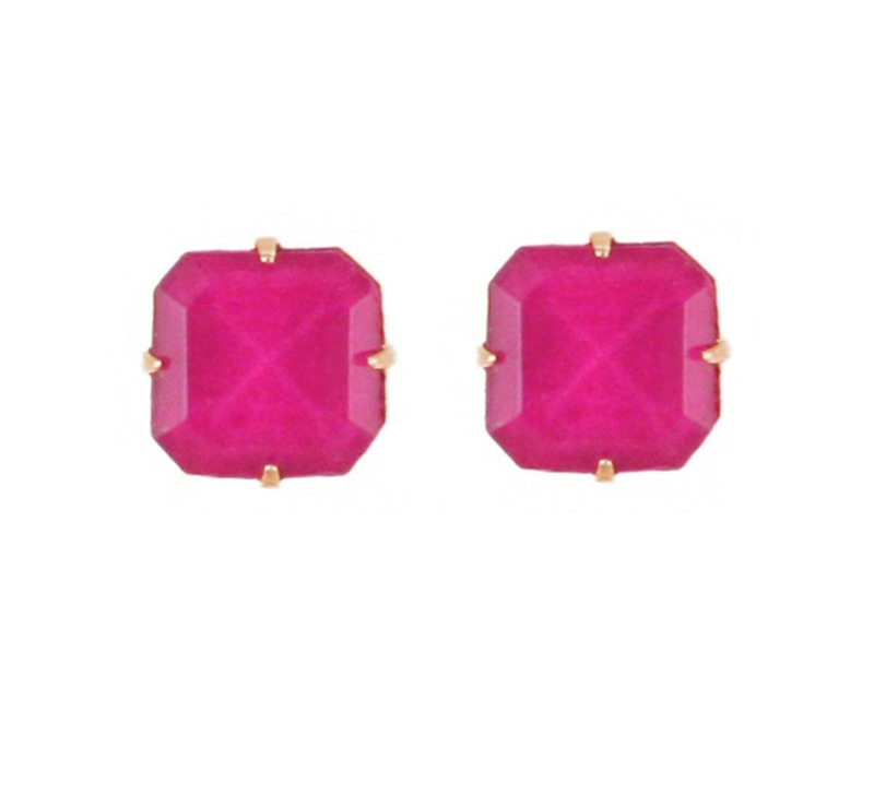 Loren Hope Sophia Studs in Hot Pink