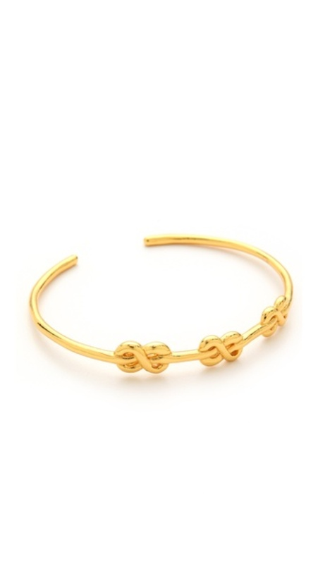 Gorjana Infinity Knot Cuff in Gold