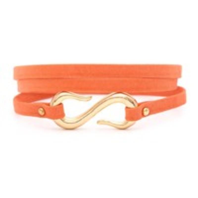 Gorjana Sadie Triple Wrap Bracelet in Coral