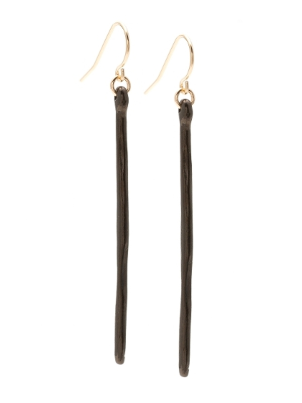 Gorjana Taner Dagger Earrings in Gunmetal