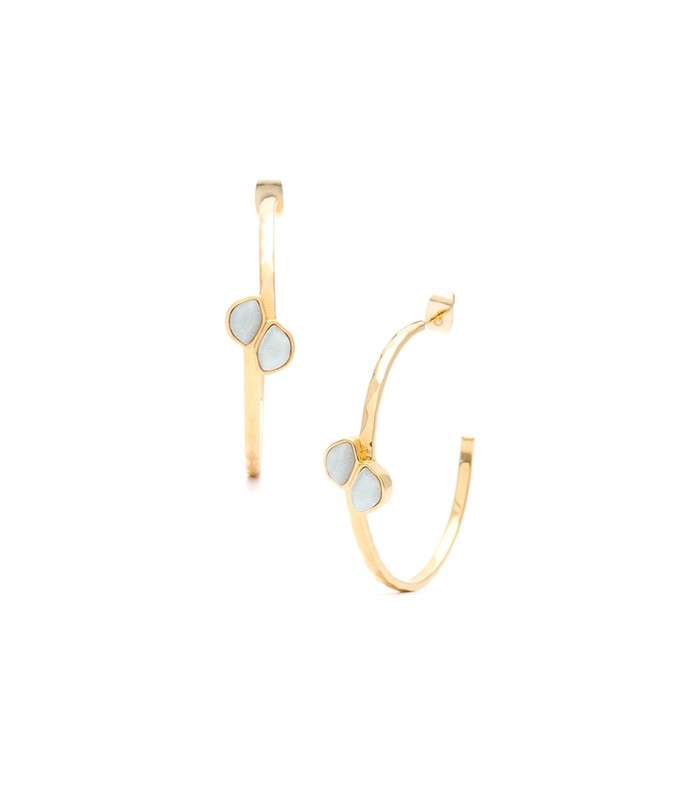Gorjana Daphne Hoops in Amazonite