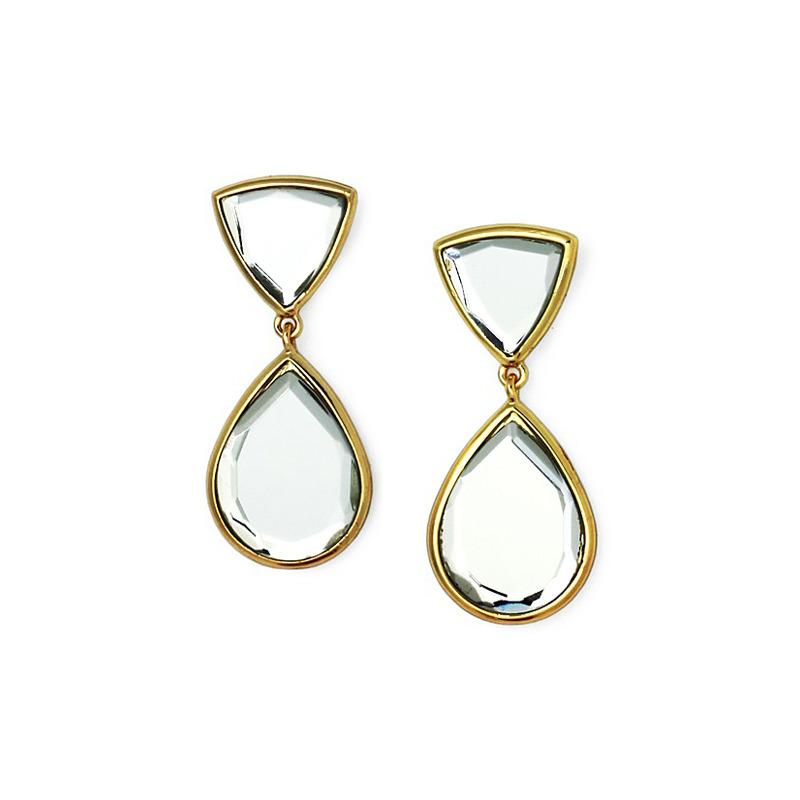 Isharya Mirror Gems Libra Earrings