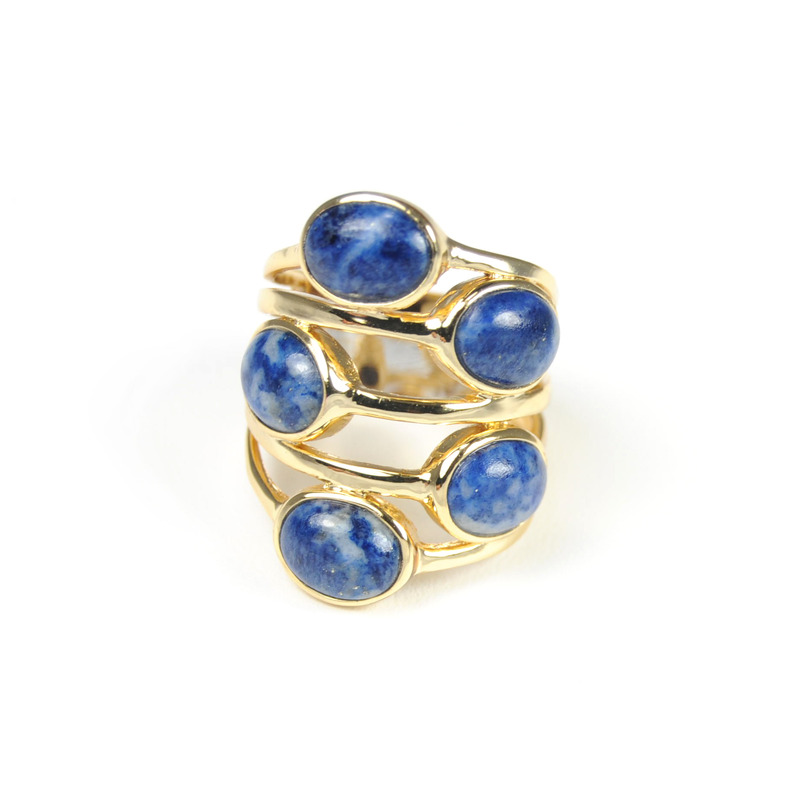 Isharya Gypsy Multi Stone Ring in Lapis