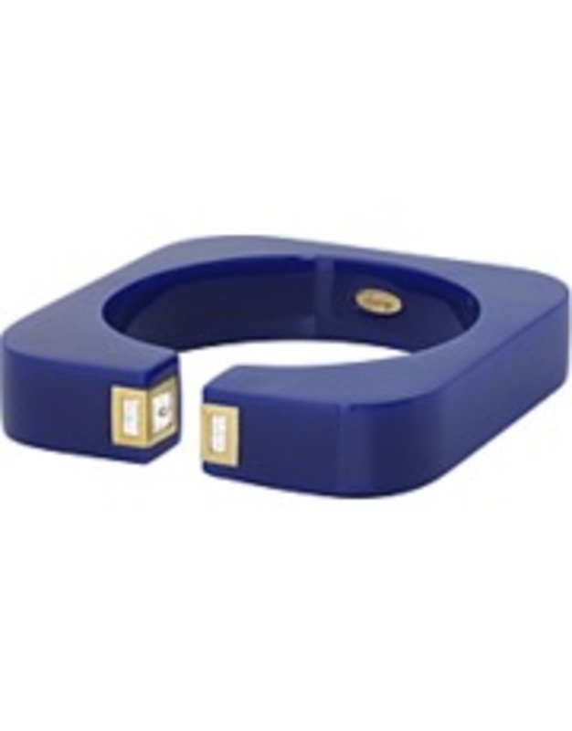 Isharya Vendome Square Resin Cuff in Royal Blue